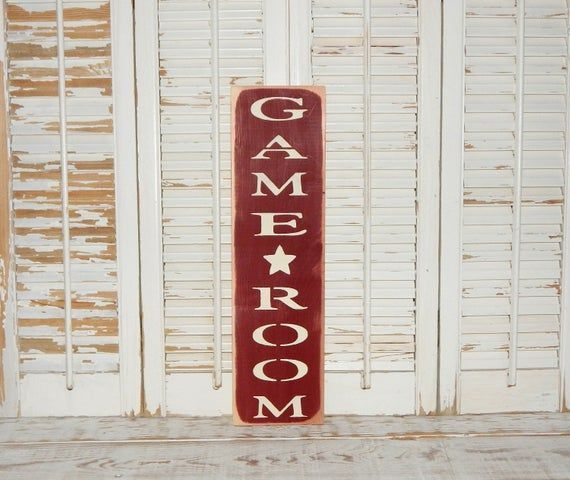 Game Room Sign Distressed Country Rustic Decor Signs Man Cave Decor He Shed Sign Country Decor Rustic Man Cave Decor Shed Signs
