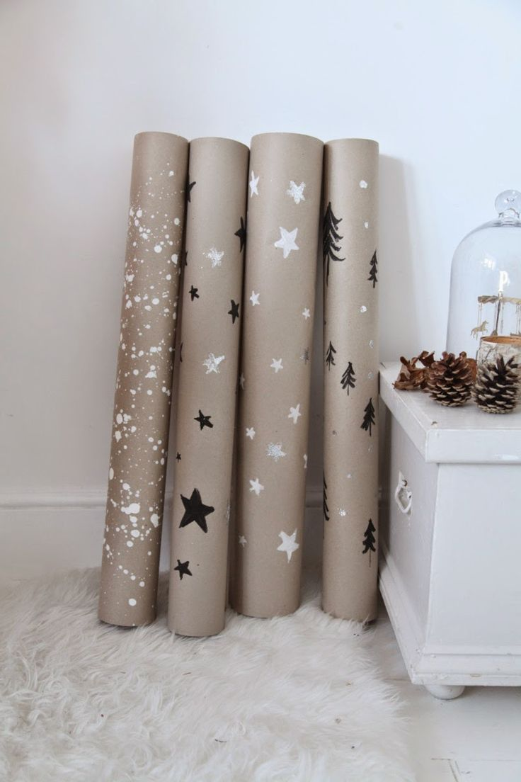homemade wrapping paper//