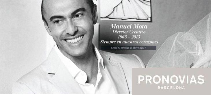 """Manuel Mota, director creativo de Pronovias durante 23 años, decidió dedicarse a la moda tras ver """"Desayuno con diamantes"""""""