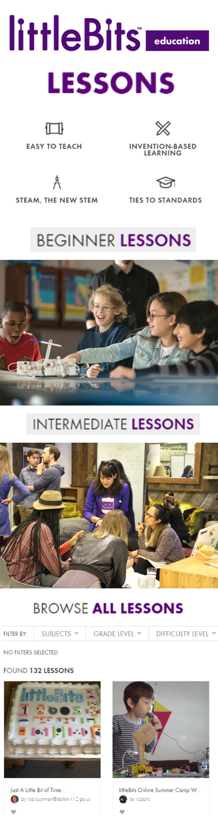 "Unlock exclusive educator content, including ""How to start a STEAM Program in Your School"" and the ""Librarian's Guide to littleBits & STEAM"" by joining the littleBits educator family now!"