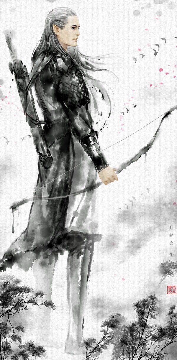 [Pic] Fanart Legolas | Kim Linh động phủ