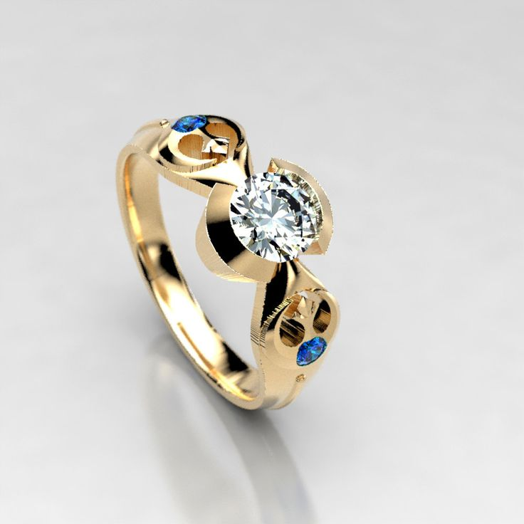 4490 best engagement rings images on pinterest jewelry for Man made sapphire jewelry