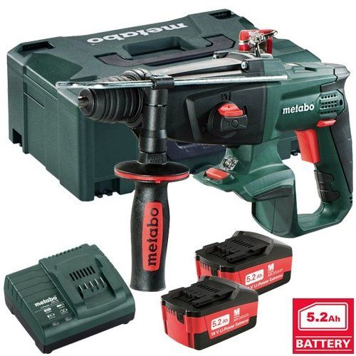 Metabo KHA18LTX 18v 3 Function SDS Hammer Drill 2 X 5.2ah Battery with integrated chiseling mode in the 18v class...EAN 4007430261595