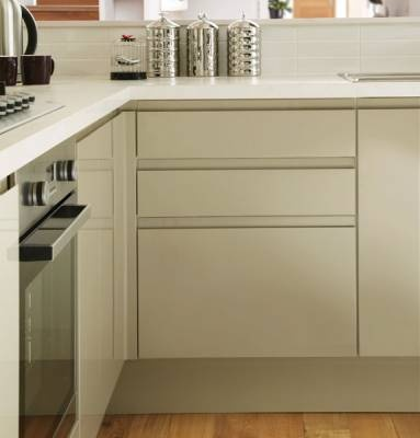 Gloss Flint Grey Integrated Handle - Gloss Integrated Handle - Kitchen Families - Kitchen Collection - Howdens Joinery