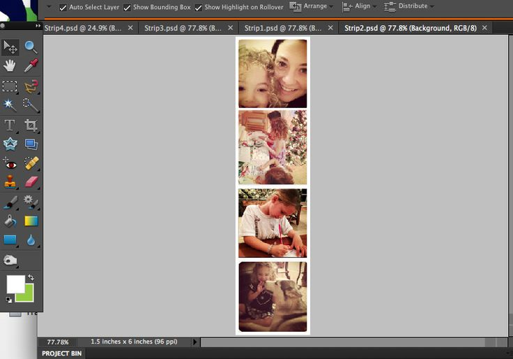 Tutorial: Instagram Photostrips. They said that you could use any photos...it is done in Photoshop.