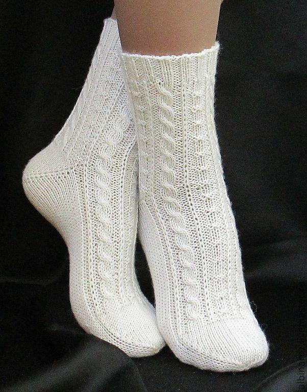 белые шерстяные носочки