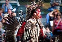 Algonquin traditional painting and dress | Stock photos by Francis Vachon