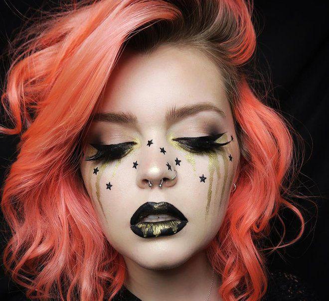 фотки макияжа на хэллоуин время выработался некий