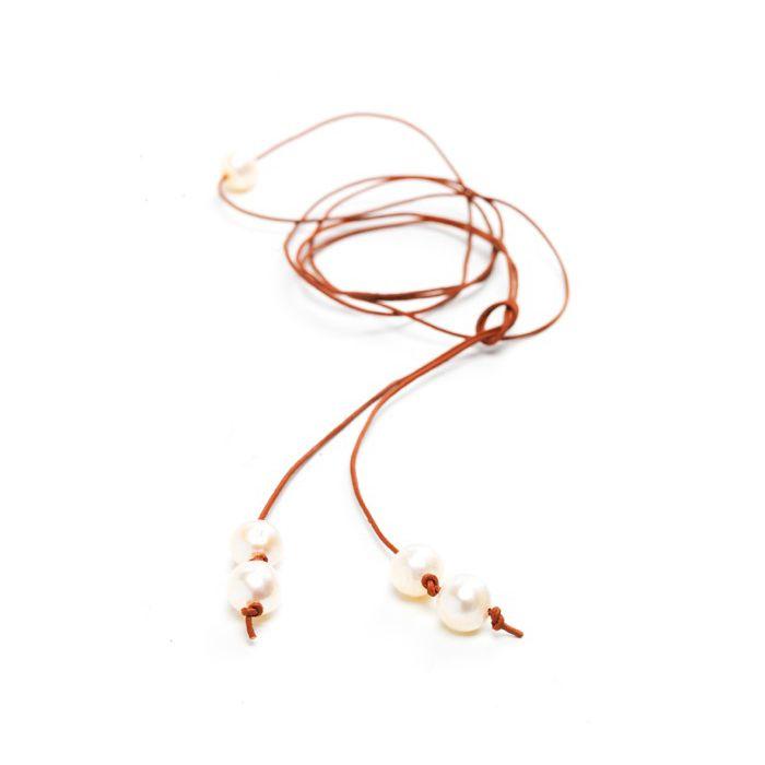 Ibiza Halsband, Vita pärlor, Carolina Gynning