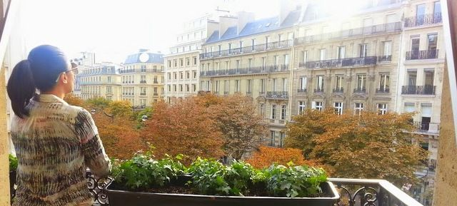 The view from the Deluxe King Bedded room at Fouquet's Barriere Paris