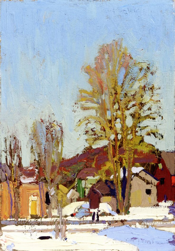 The Athenaeum - Snow in the Village (Tom Thomson - )