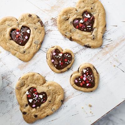 """<div>These Valentine Chocolate Filled Hearts cookies from <a target=""""_blank"""" href=""""http://nestlekitchens.com/"""">Nestlé Kitchens</a> feature melted chocolate in the center, making them hard for your Valentine to resist.</div>"""