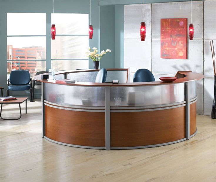 1pc Oval Round Modern Contemporary Office Reception Desk, #OF-MAP-R5 - H2O Furniture