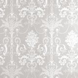 Josette White/Dove Grey Damask Wallpaper alternative image