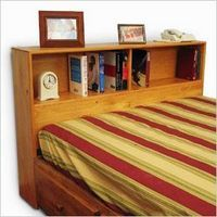 If you who like to curl up in bed with a good book, a bookcase headboard is ideal. When you finish one book there is another waiting for you within reach.