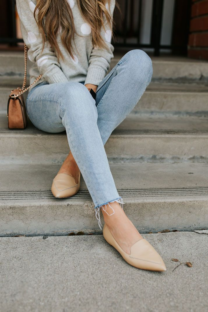 Pointed flats outfit, Flat shoes outfit