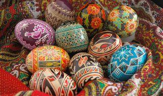 Ovos da Páscoa da comunhão católica ortodoxa russa