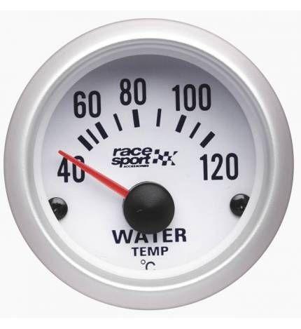 #Termómetro temperatura agua Race Sport,Termómetro para la temperatura del agua. Con este indicador instrumental podrás comprobar de un rápido vistazo los grados a los cuales está el agua. Los mide en Celsius. Diámetro 52 mm 12 V Grados Celsius.29,95€. todastuscompras.com