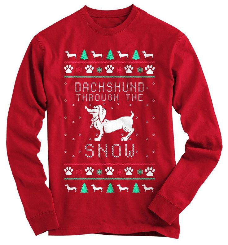 Do you love Christmas and Dachshunds? Show everyone your love for the holiday season, with this great shirt.