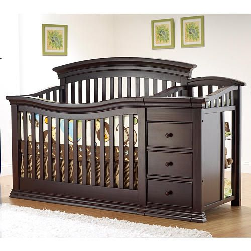 Sorelle Verona 4-in-1 Lifetime Convertible Crib and Changer - Espresso