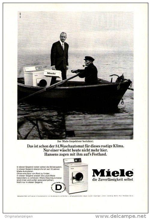 Original-Werbung/ Anzeige 1966 - 1/1-SEITE - MIELE WASCHMASCHINE - ca. 150 X 230 mm