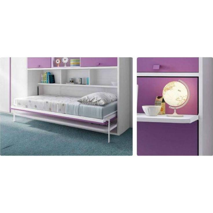 Litera abatible horizontal con armario habitaciones - Literas con armario ...