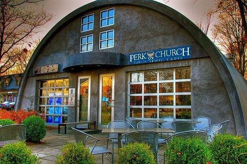 Perk on Church, Guilford, Connecticut. -- where I am right now!