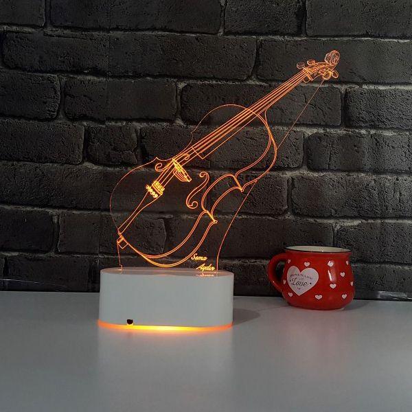 3D Keman LED Lamba