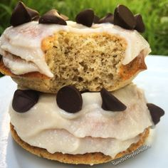 Ripped Recipes - Holy Cannoli Protein Donuts - A healthy high protein donut that reminds you of your favorite cannoli dessert. This donut is macro friendly and delicious!