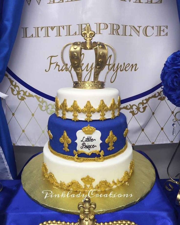 Royal Prince Baby Shower Cake! See More Party Ideas At