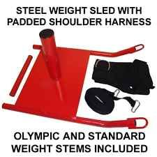 Metal Weight Sled with Speed Resistance Training Harness