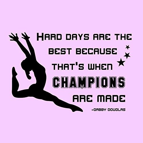 35'x24' Hard Days Are The Best Because That's When Champions Are Made Gabby Douglas Wall Decal Sticker Art Mural Home Décor Quote Gymnastics Sport Olympics ** Check out this great product. (This is an affiliate link and I receive a commission for the sales)