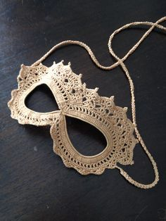 Crochet Lace Masquerade Mask By arhoglen - Free Crochet Pattern - (ravelry)