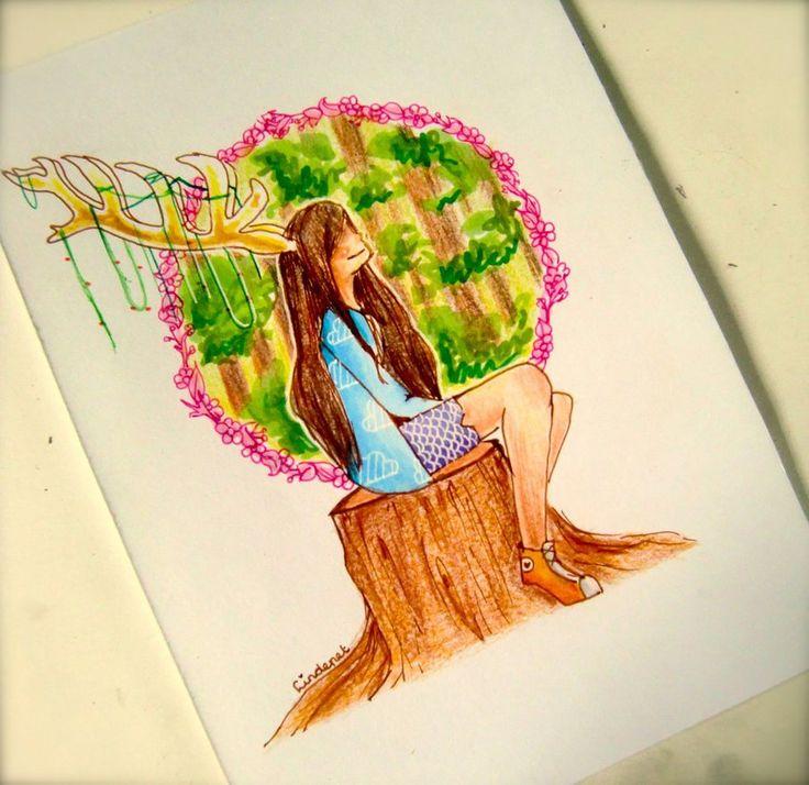 -Deer Girl- by lindepet.deviantart.com on @DeviantArt