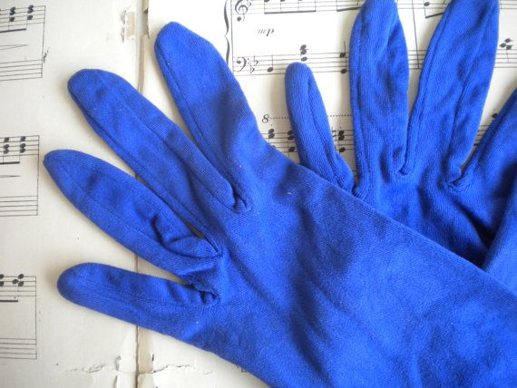 Chic Vintage Evening Gloves Blue Rustic Wedding by MyVingtique
