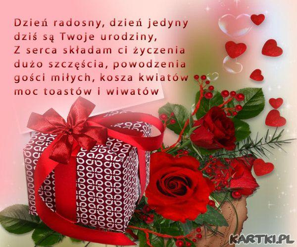 Pin od Zofia na Romantyczny Happy birthday, Wish i Birthday