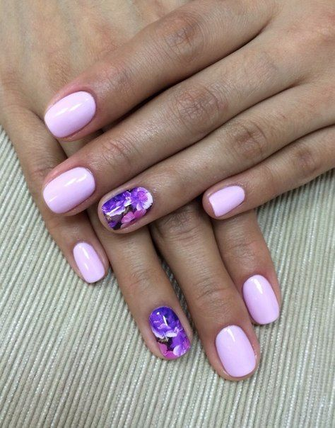 Casual nails, Cool nails, Everyday nails, Lilac nails, Nails with stickers…
