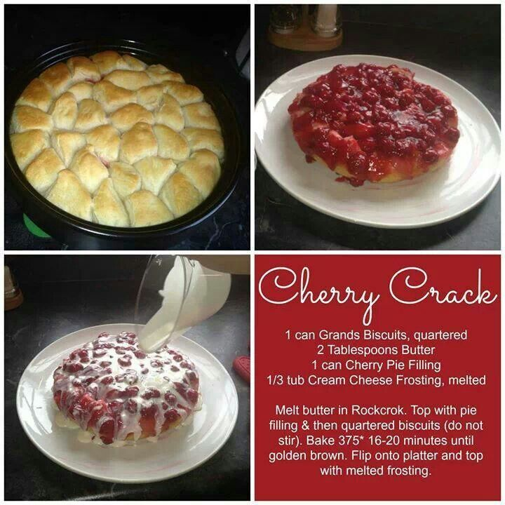 Can I make this in round covered baker?? - Cherry crack  rockcrock is from pampered chef