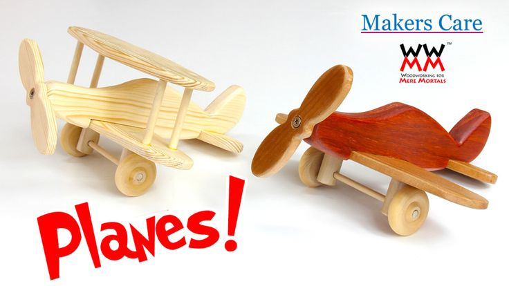 Wooden toy planes