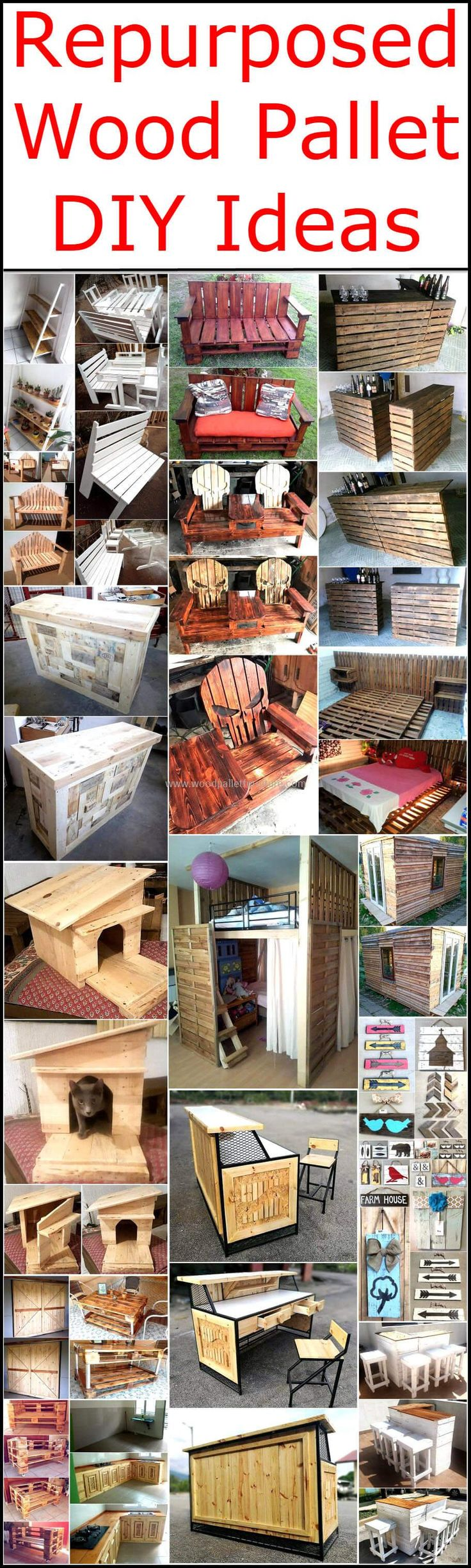 It is a healthy and creative activity to re-transform useless wood pallets  to patio