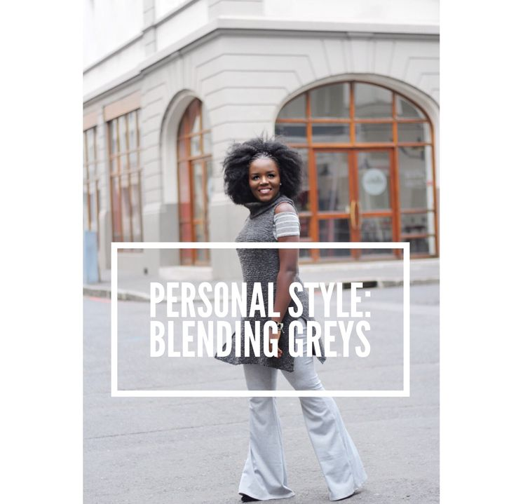 Personal Style: Blending Greys Winter layering. Wide legs x off shoulder