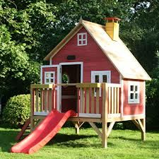 Crooked Penthouse Play House - wooden climbing frames for kids