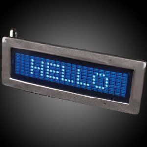 Blue Scrolling Text Belt Buckles and Special Gift with Purchase- Exclusive FlashingBlinkyLights Light Up Pin by FlashingBlinkyLights, Inc.. $19.99. Receive an Exclusive FlashingBlinkyLights Light Up Pin as your Free Gift with Purchase!. All products are CPSIA Compliant. Includes Replaceable Low Mercury Batteries. Say it with your belt buckle, program your favorite phrases into a Blue Scrolling Text Belt Buckle! This buckle is a fun way to share your thoughts while looking st...
