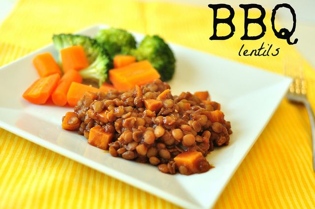 BBQ Lentils | the ____ of champions | Pinterest