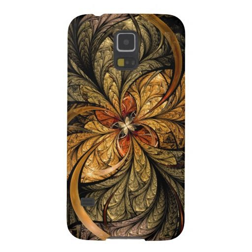 Shining Leaves Fractal Art Case-Mate Barely There Samsung Galaxy S5 Case