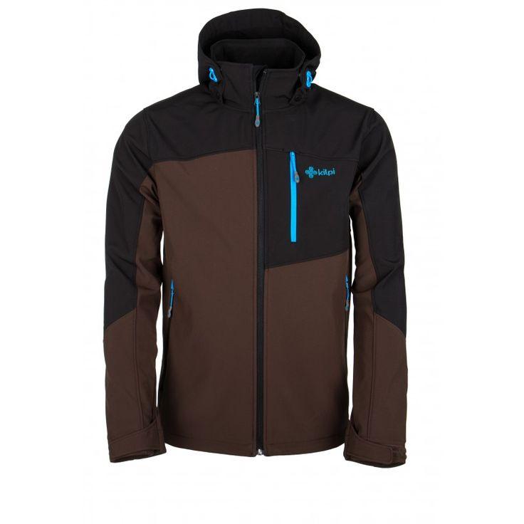 Men's softshell jacket KILPI - ELIO - brown
