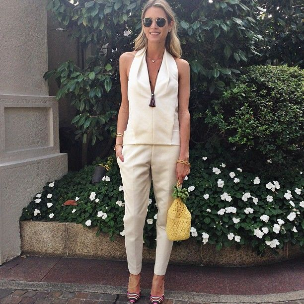 .@Elena Kovyrzina Navarro Bordon | All white today for Just Cavalli #jumpsuit #alexanderwang #etoiles @helenasic... | Webstagram - the best Instagram viewer