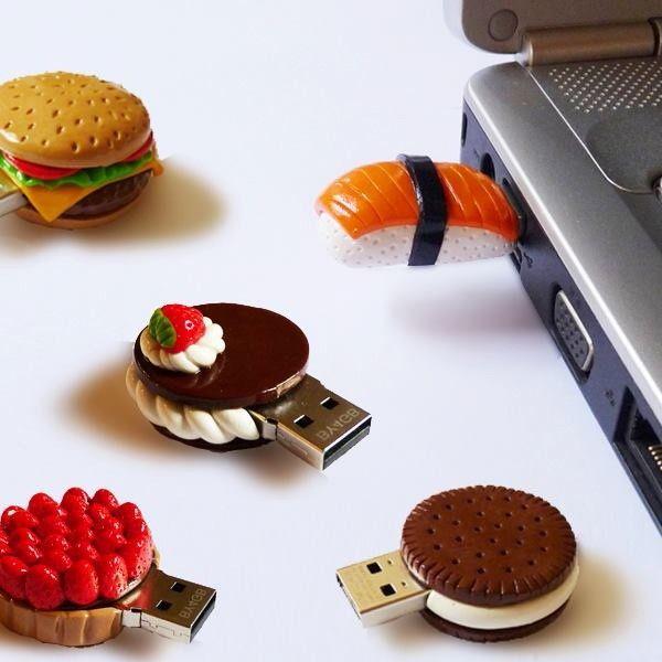 Vous cherchez un idée ingénieuse pour cacher vos clé USB trop simple à votre goût ? Voici d'amusantes réalisations en pâte fimo .