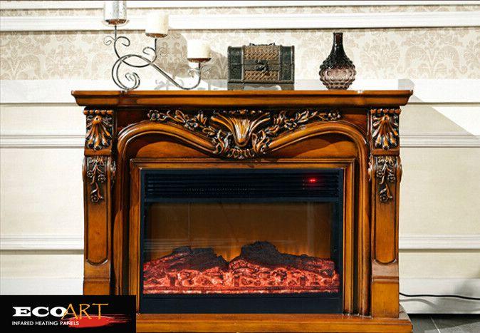 Insert Perapian Perapian Listrik 1500 W Built-In Listrik untuk livingroom