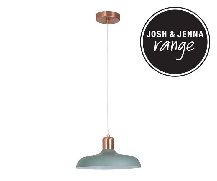 Croft 1 Light Pendant in Brushed Copper/Mint